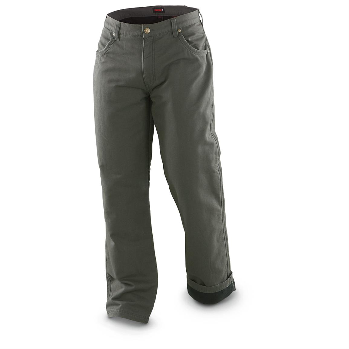Wolverine® Mechanic's Insulated Pants, Charcoal; Cozy fleece-lined warmth!