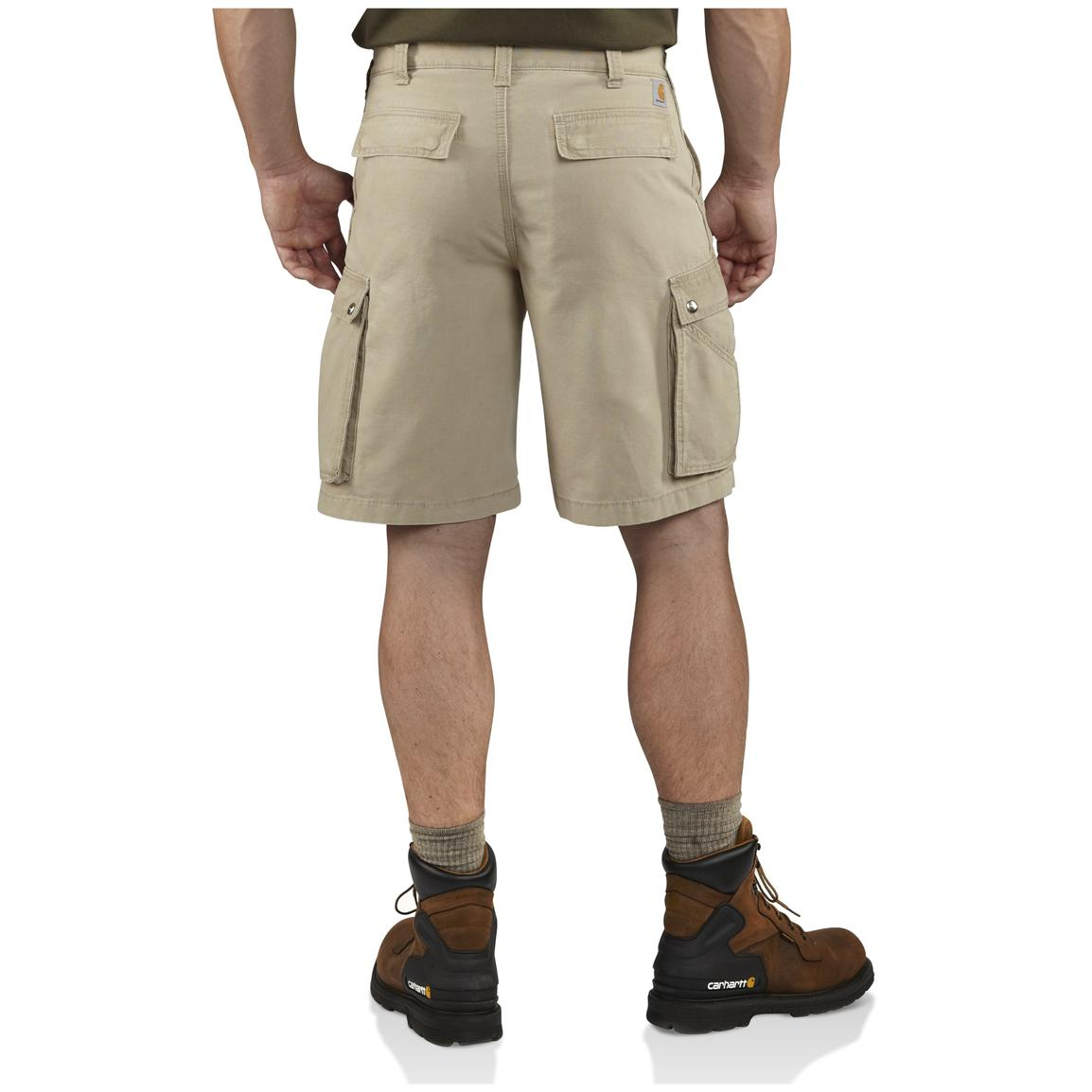 Carhartt® Rugged Cargo Shorts, Tan - Back