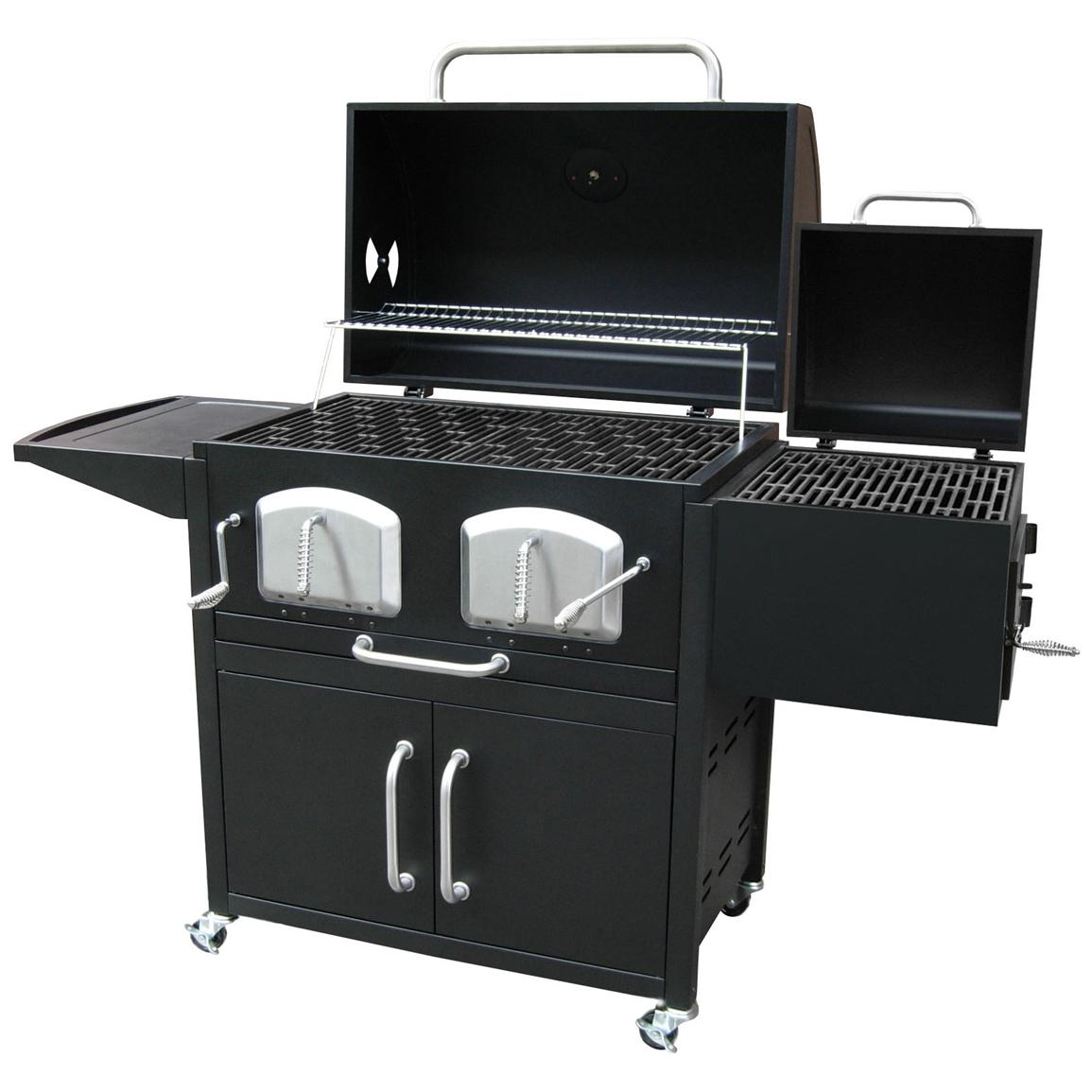 landmann bravo premium charcoal grill with offset smoker box 588493 grills smokers at. Black Bedroom Furniture Sets. Home Design Ideas