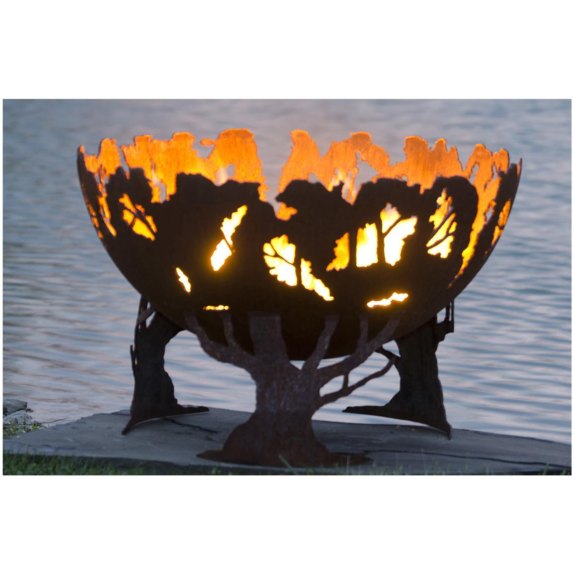 """Forest Fire"" 37"" Custom Steel Fire Bowl from The Fire Pit ..."