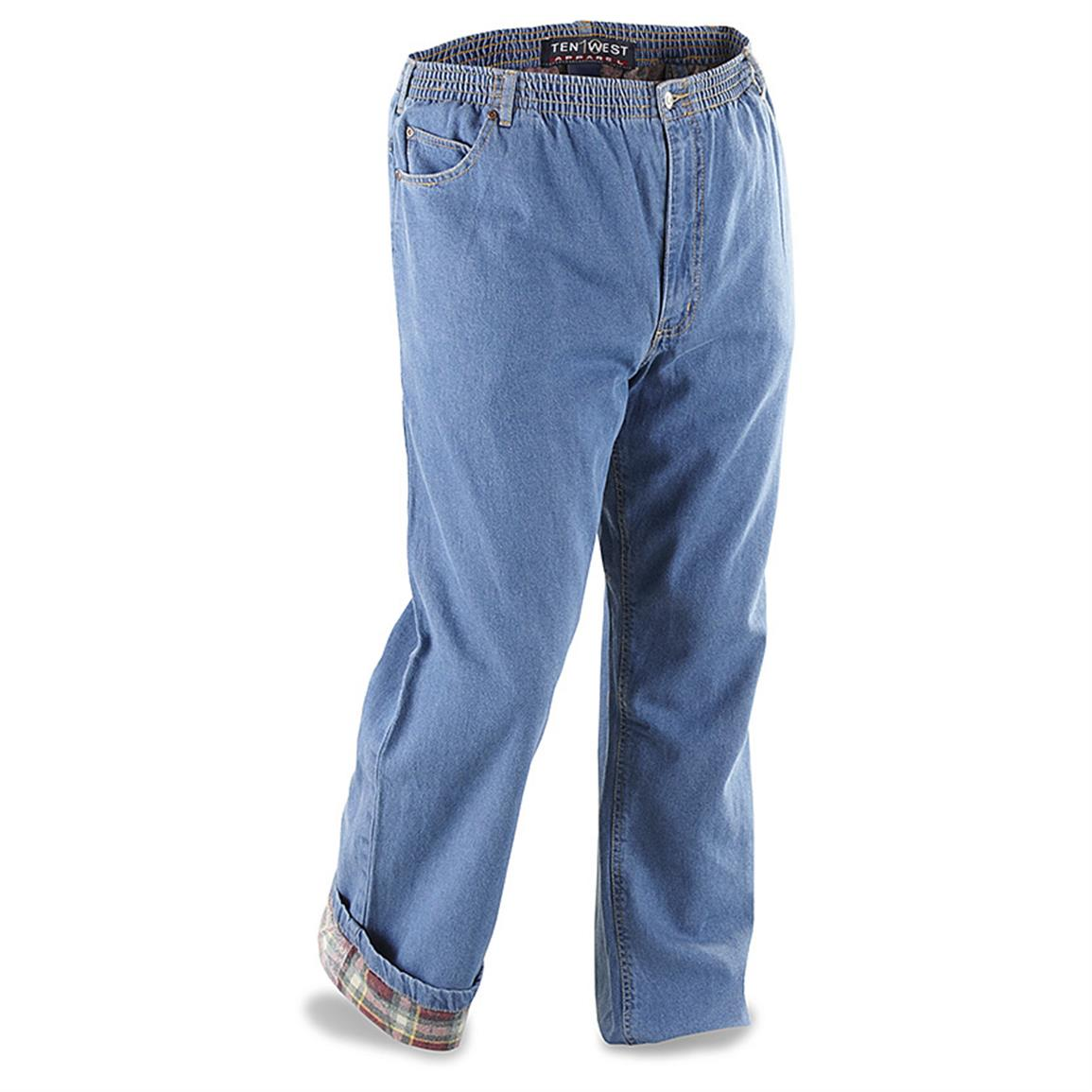 Jeans provide a decent amount of warmth on their own, but sometimes you need extra protection against old Jack Frost. Lined with flannel, these amazing bottoms from Old .