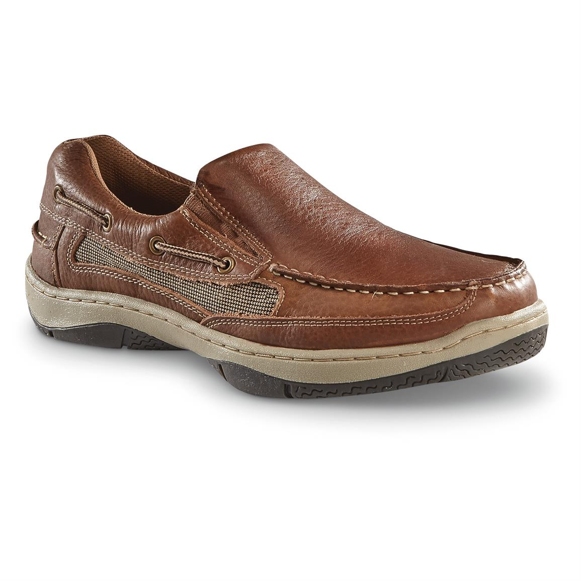 Guide Gear Men's Slip On Boat Shoes, Tan