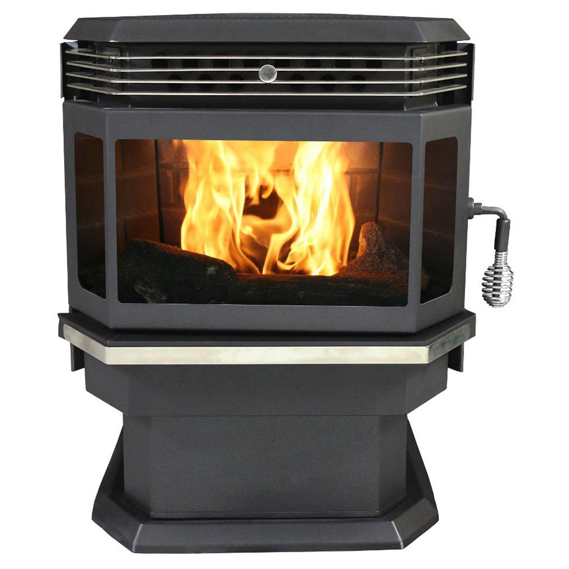 U s stove company bay front pellet stove 588706 wood for Hardwood floors 2000 sq ft