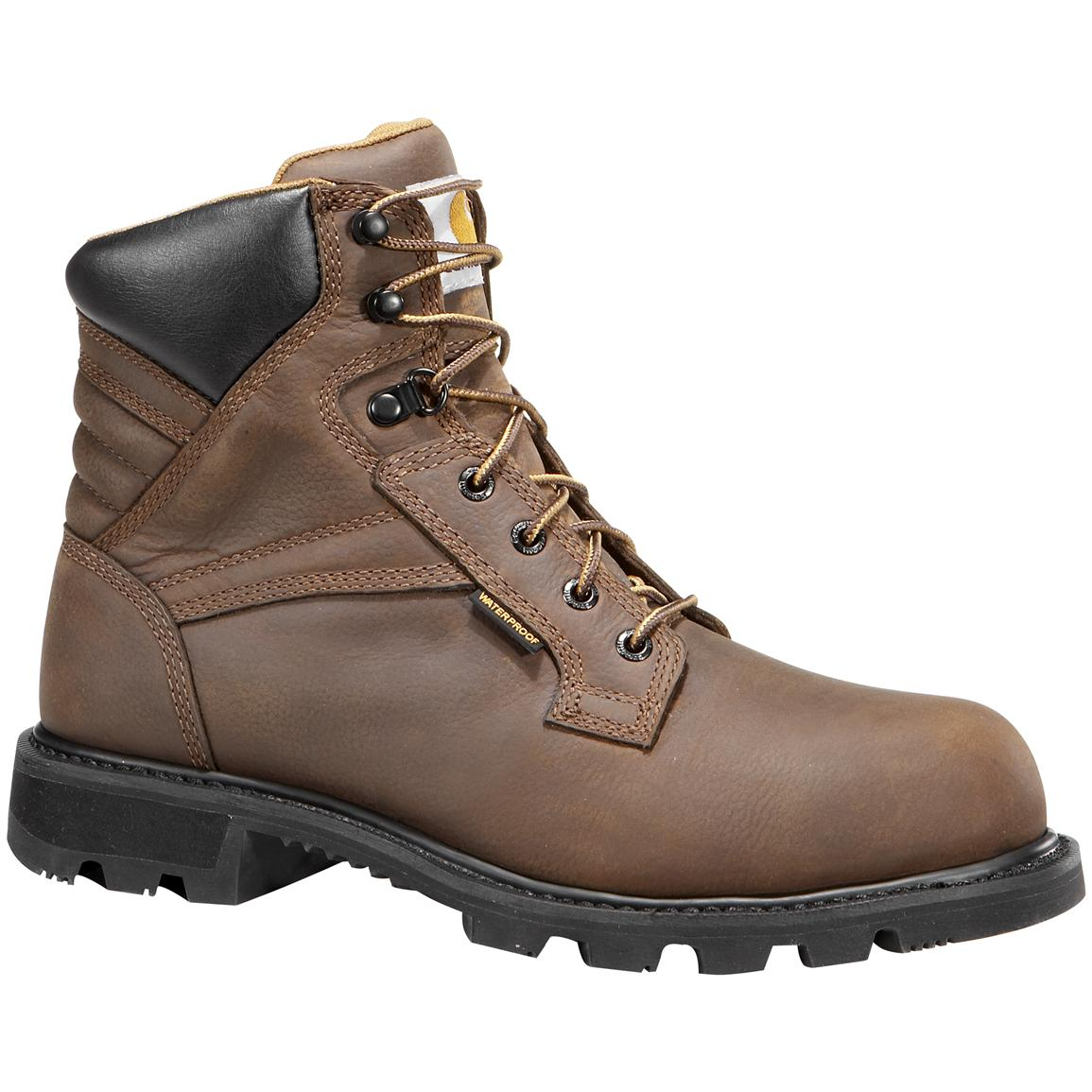 "Men's Carhartt® 6"" Waterproof Steel Toe Work Boots, Brown"