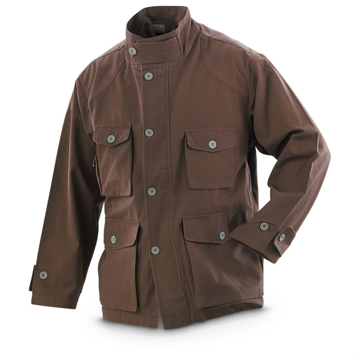 Military-Style Men's Shooters Jacket, Brown