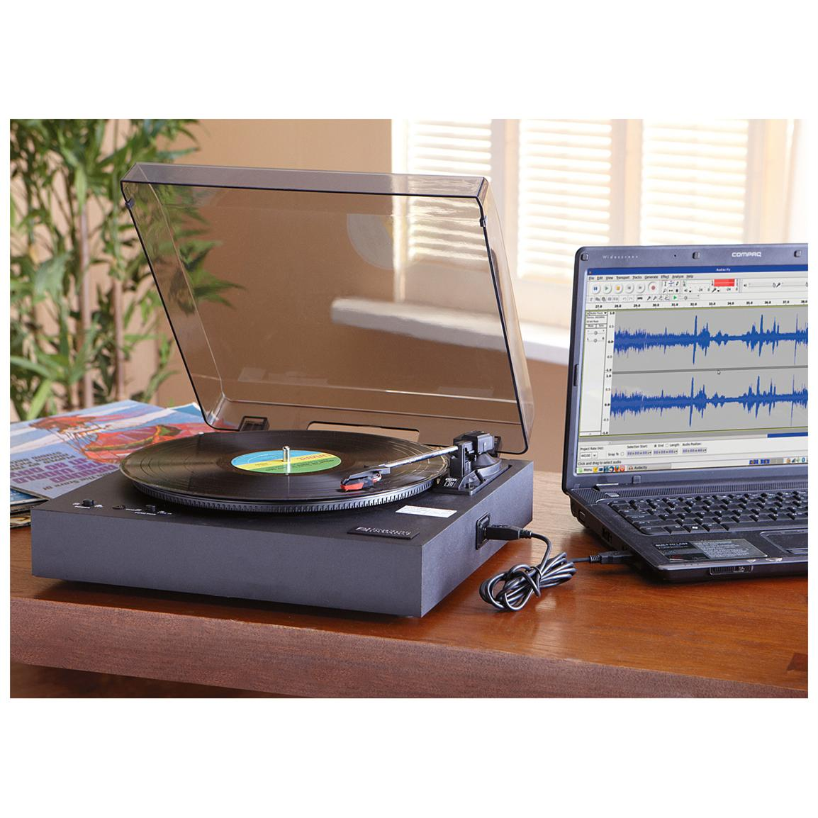 Encore® USB-to-PC Turntable