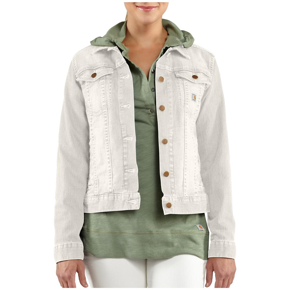 Women's Carhartt® Tucker Denim Jacket, Antique White