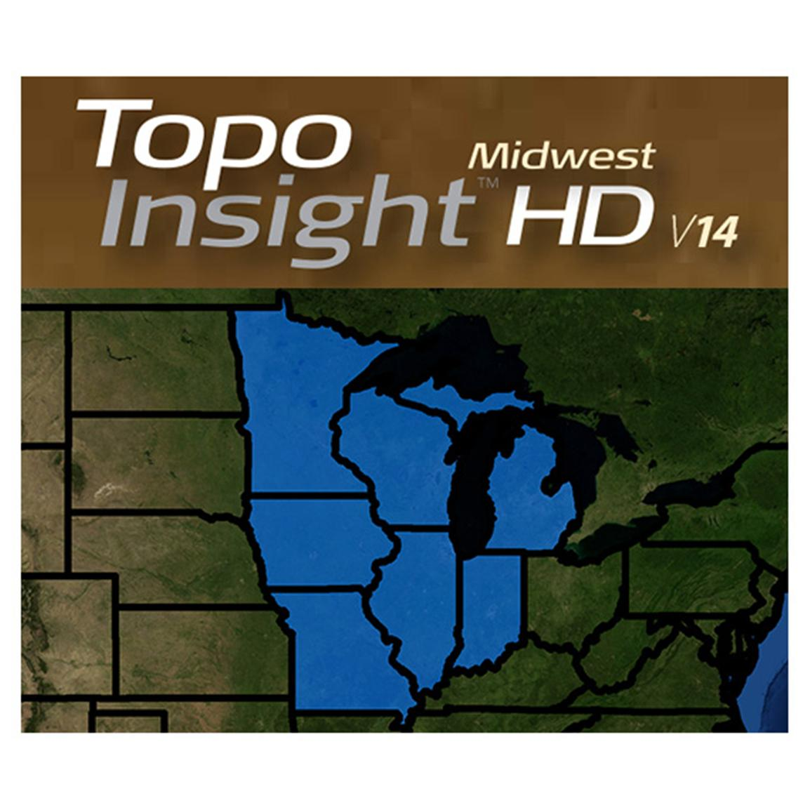 Lowrance® Topo Insight HD Midwest 2014 Map Card