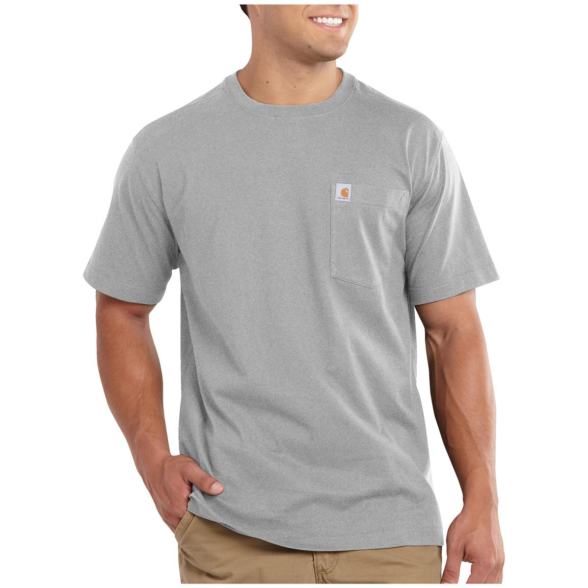 Carhartt Maddock Pocket Short-sleeve T-shirt, Heather Gray