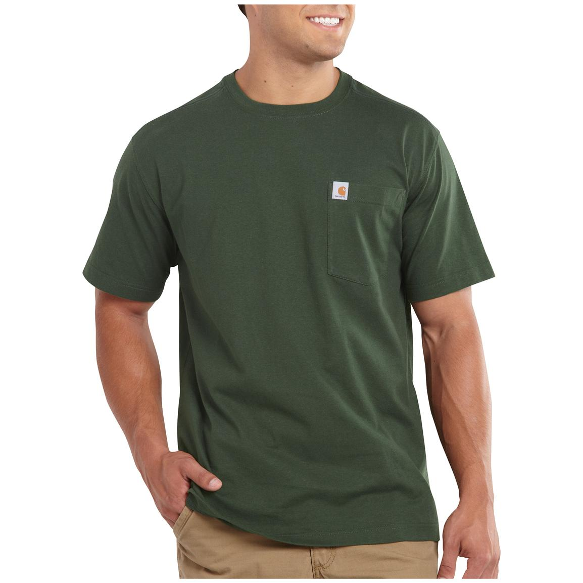Carhartt Maddock Pocket Short-sleeve T-shirt, Green
