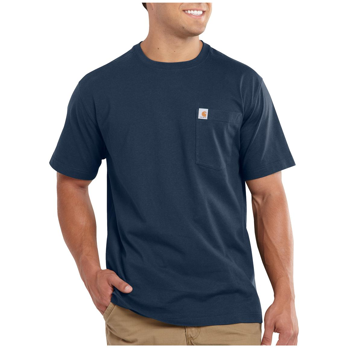 Carhartt Maddock Pocket Short-sleeve T-shirt, Navy