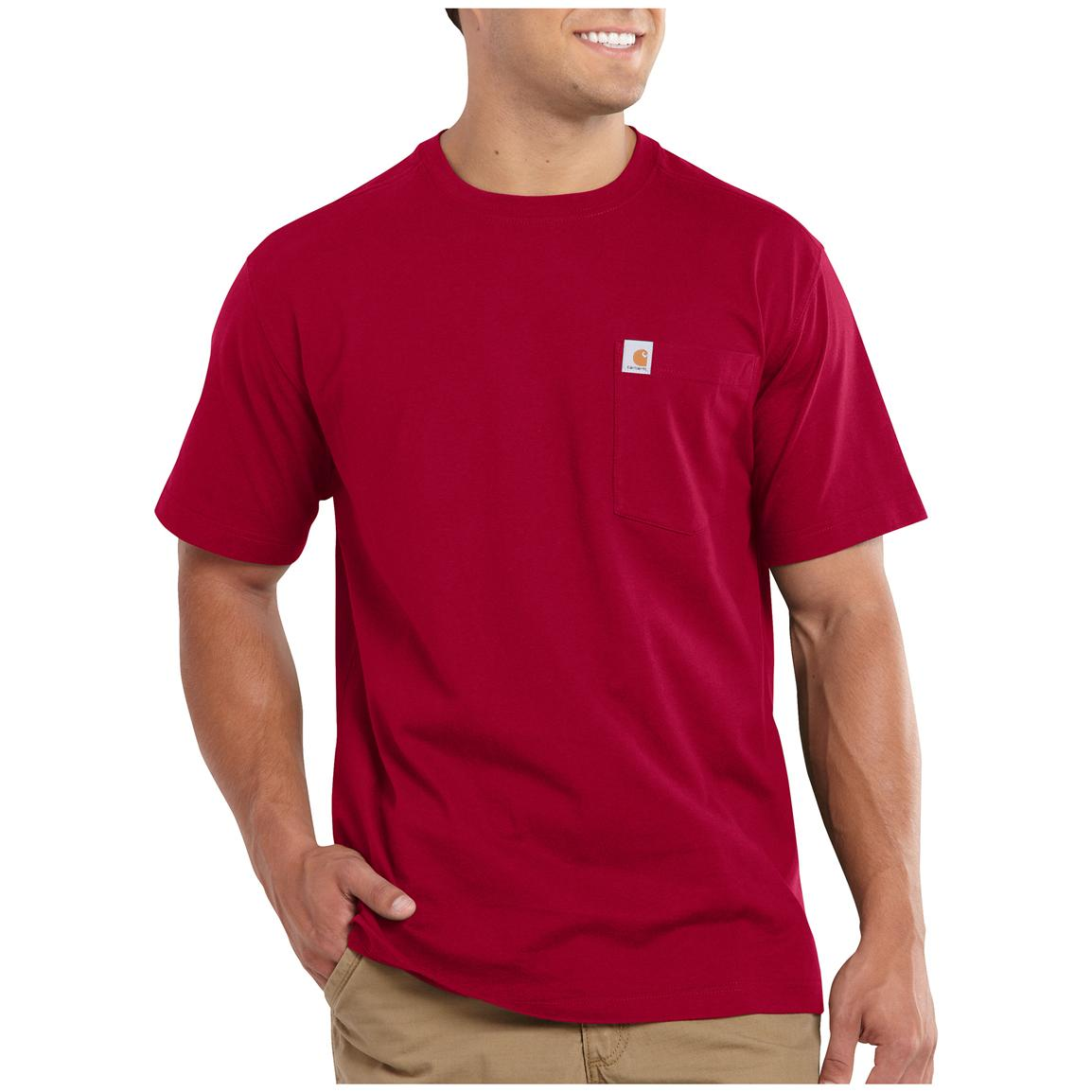 Carhartt Maddock Pocket Short-sleeve T-shirt, Dark Red