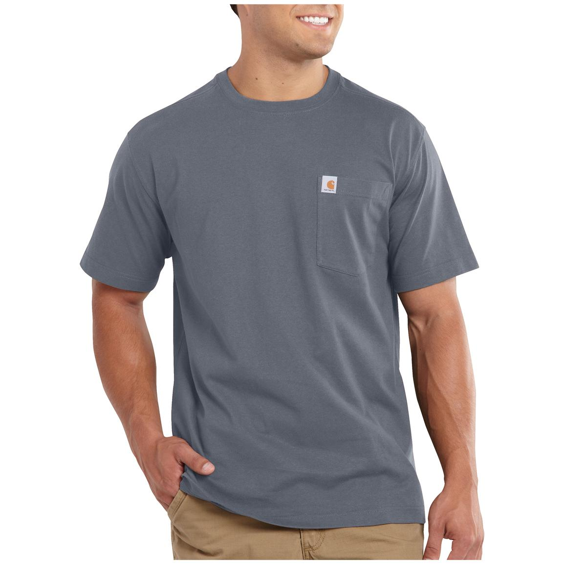 Carhartt Maddock Pocket Short-sleeve T-shirt, Flint Stone