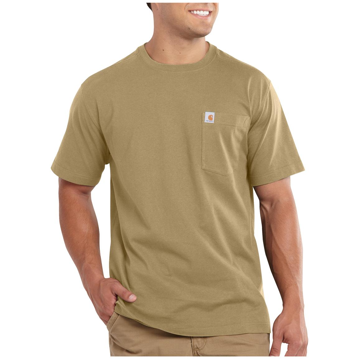 Carhartt Maddock Pocket Short-sleeve T-shirt, Dark Khaki
