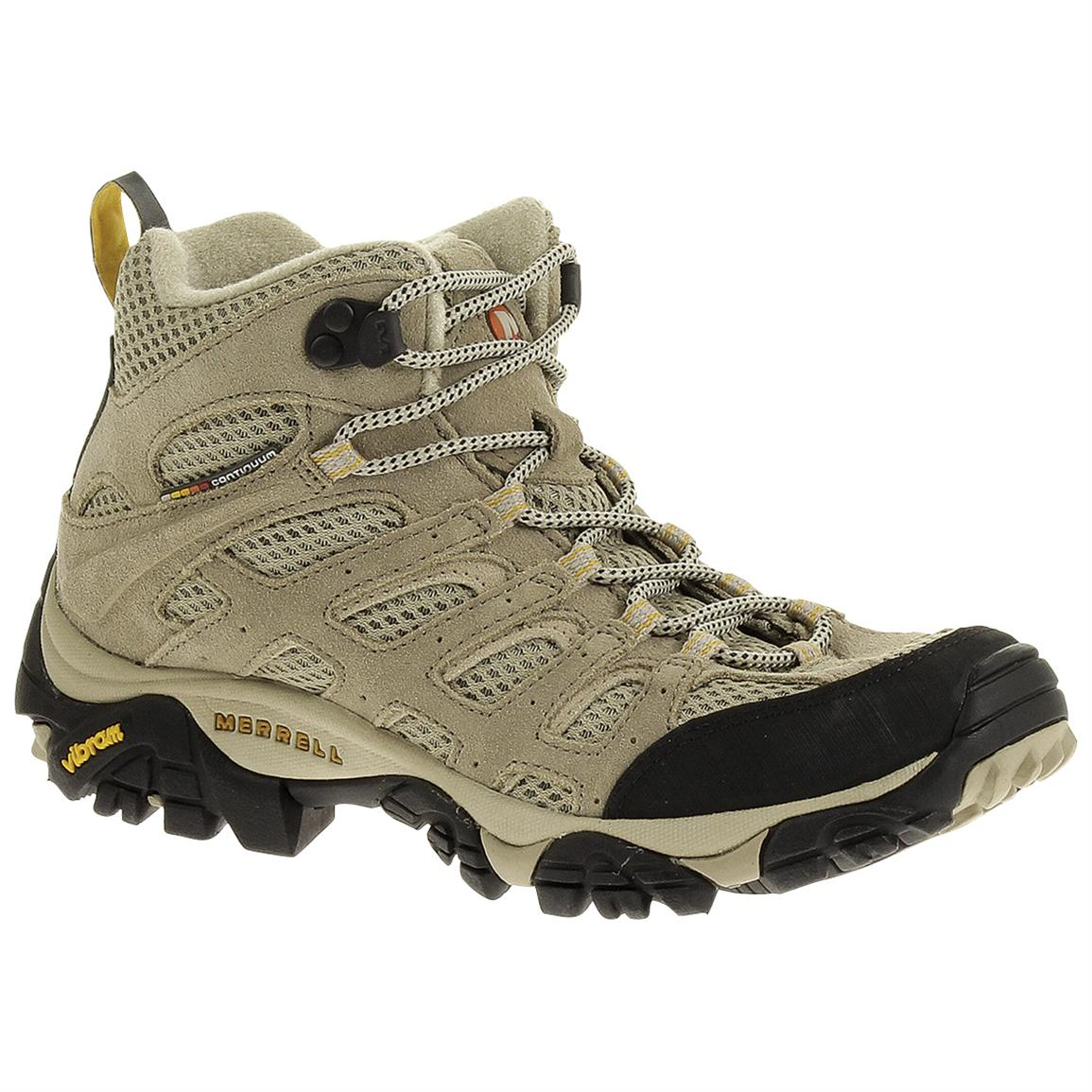 Women's Merrell® Moab Ventilator Mid Hiking Boots, Taupe