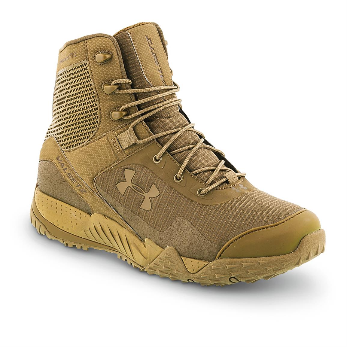 Under Armour Men's Valsetz Tactical RTS Tactical Boots, Coyote