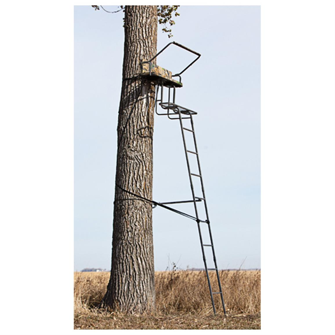 Sniper 15 foot Deluxe 2-man Ladder Stand • 500-lb. capacity