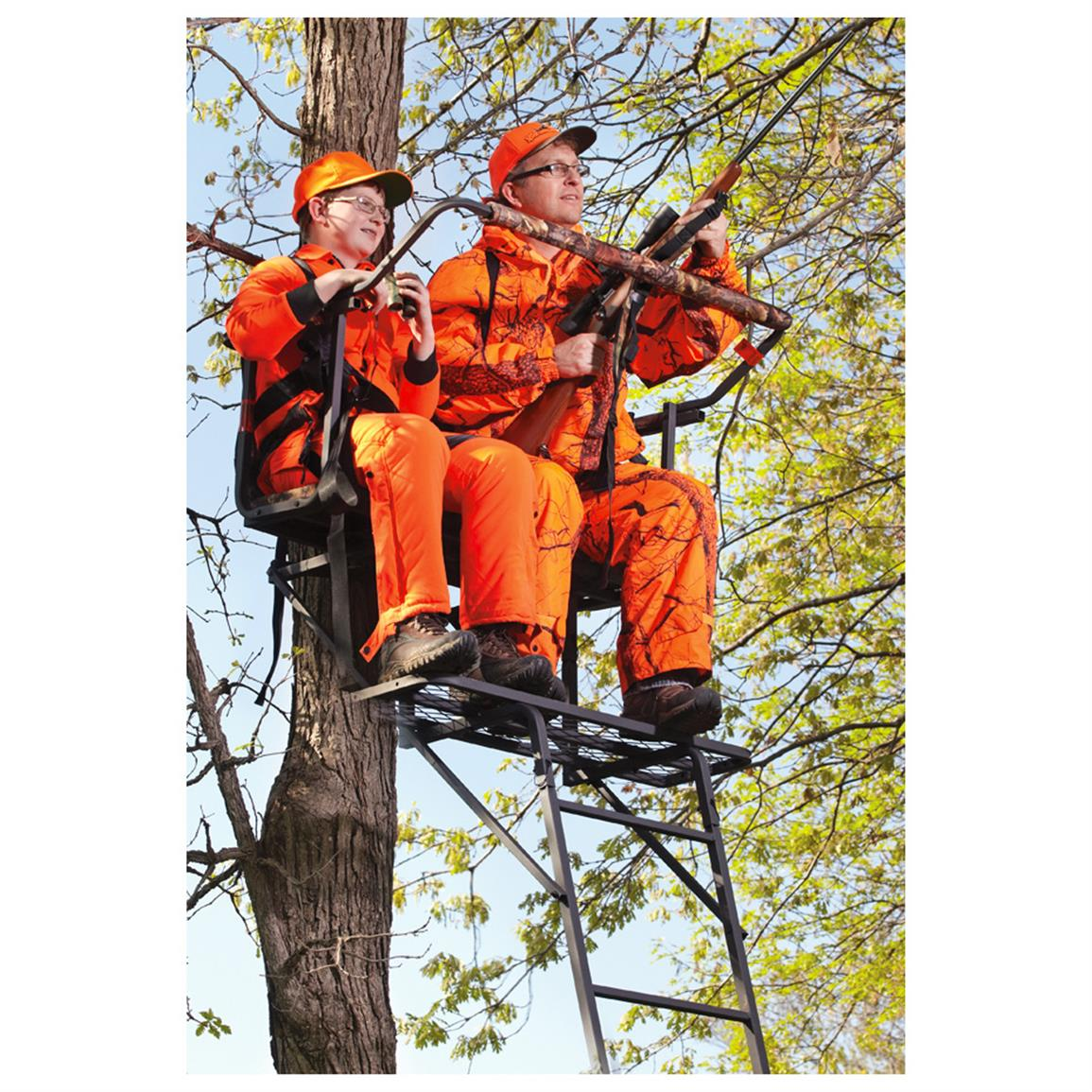 Sniper 15 Deluxe 2 Man Ladder Stand 592694 Ladder Tree