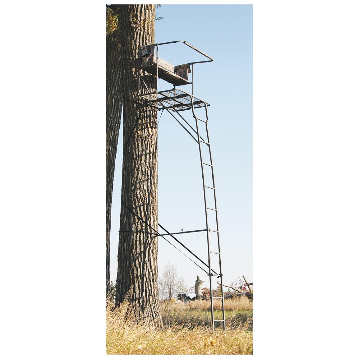 Sniper Alpha 17 Deluxe 2 Man Ladder Stand 592700
