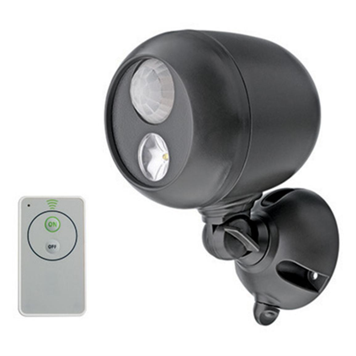 Wireless Motion Sensor LED Spotlight with Remote