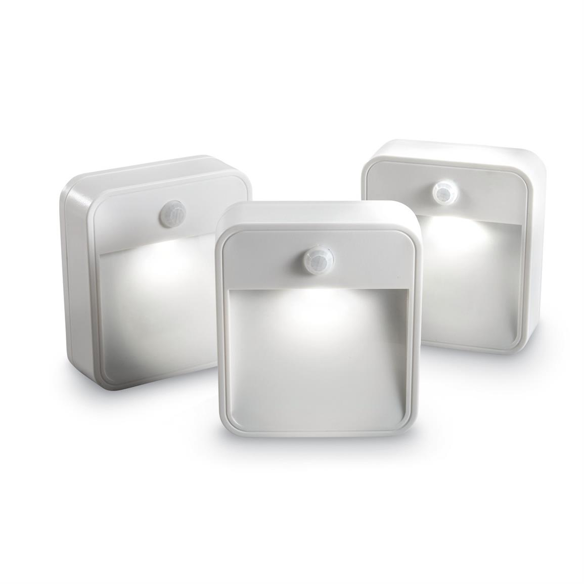 Mr Beams Stick Anywhere Wireless Motion Sensor LED Night Lights, 3 Pack