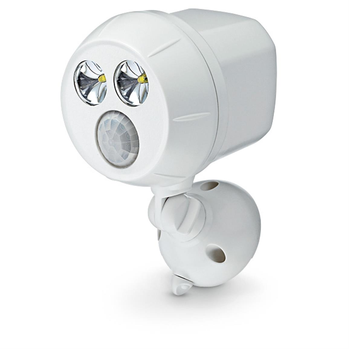 Wireless Motion Sensor Ultra Bright LED Spotlight, White
