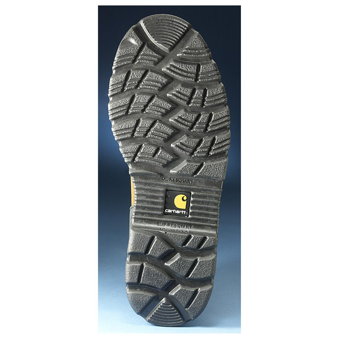Dual-density polyurethane outsole is oil, chemical and slip resistant