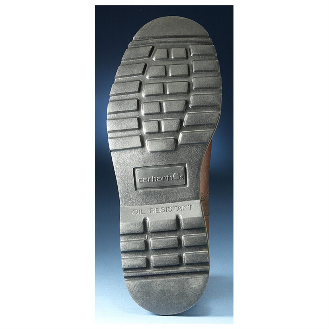 Rugged blown-rubber outsole is oil, chemical and slip resistant