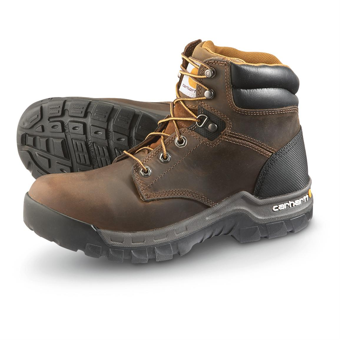 Carhartt Rugged Work Boots, Brown