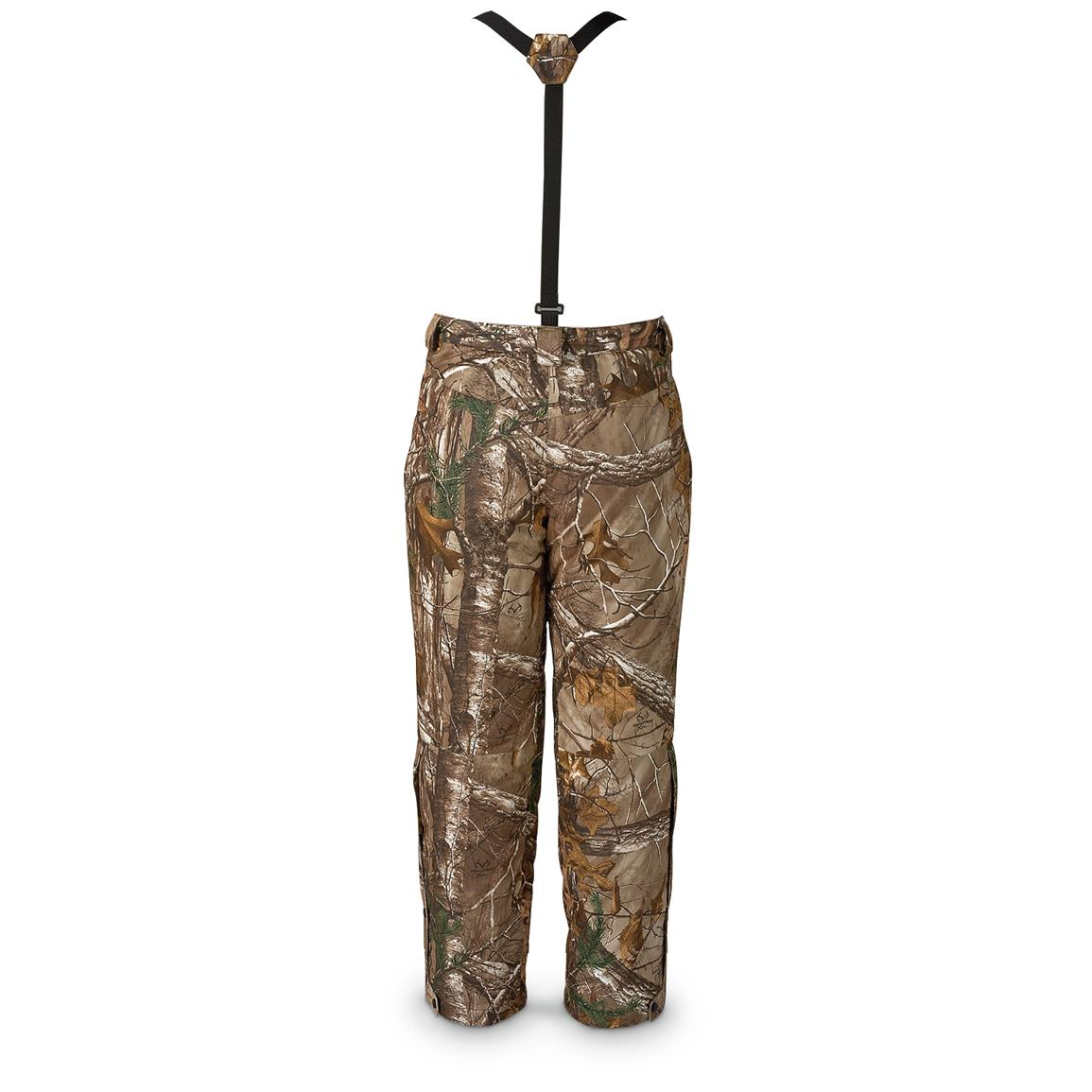 Brushed 100% polyester shell in Realtree Xtra