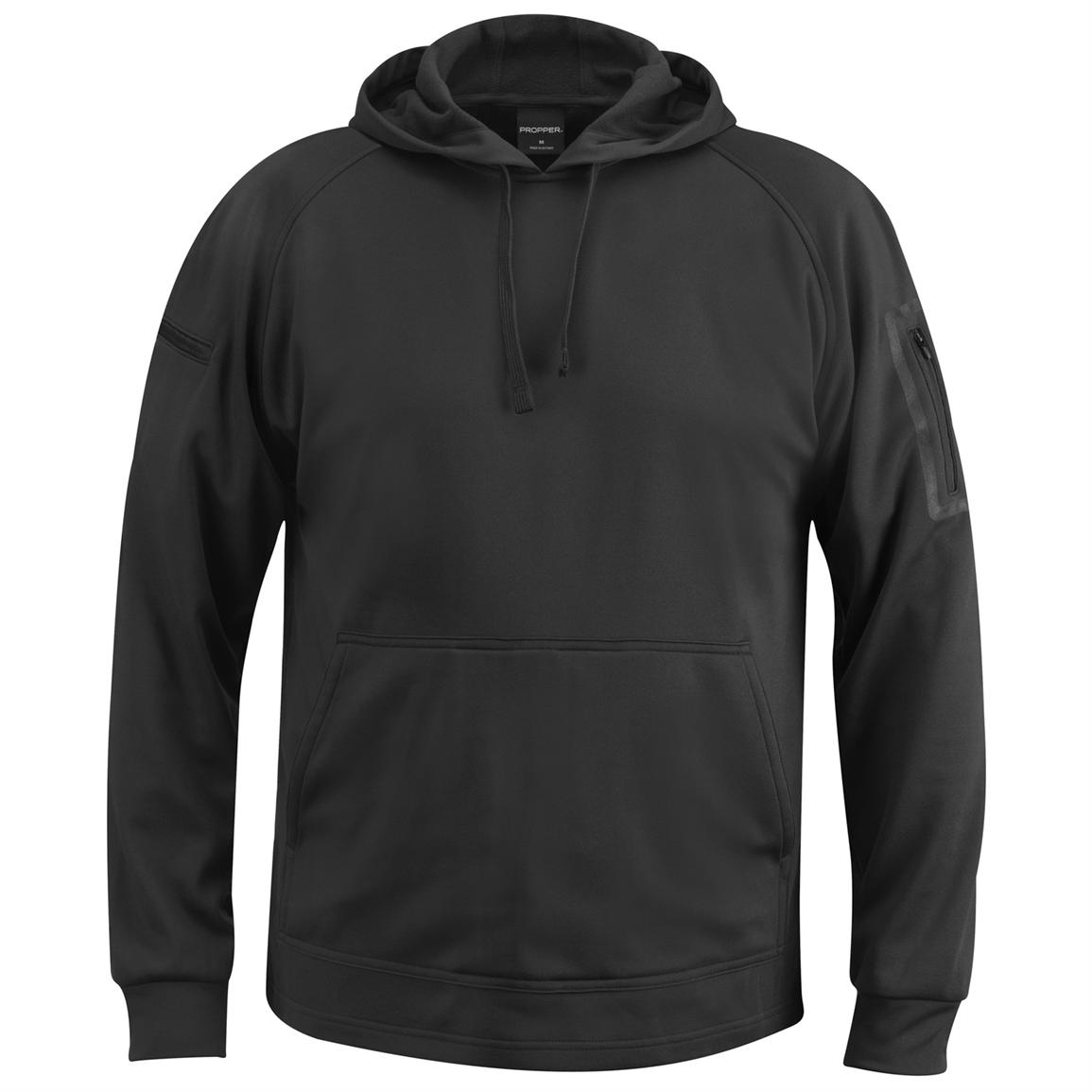 Propper™ Cover™ Hooded Sweatshirt, Charcoal