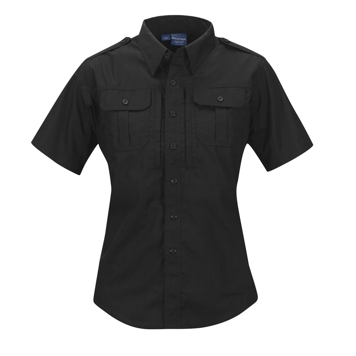 Women's Propper™ Short-sleeved Tactical Shirt, Black