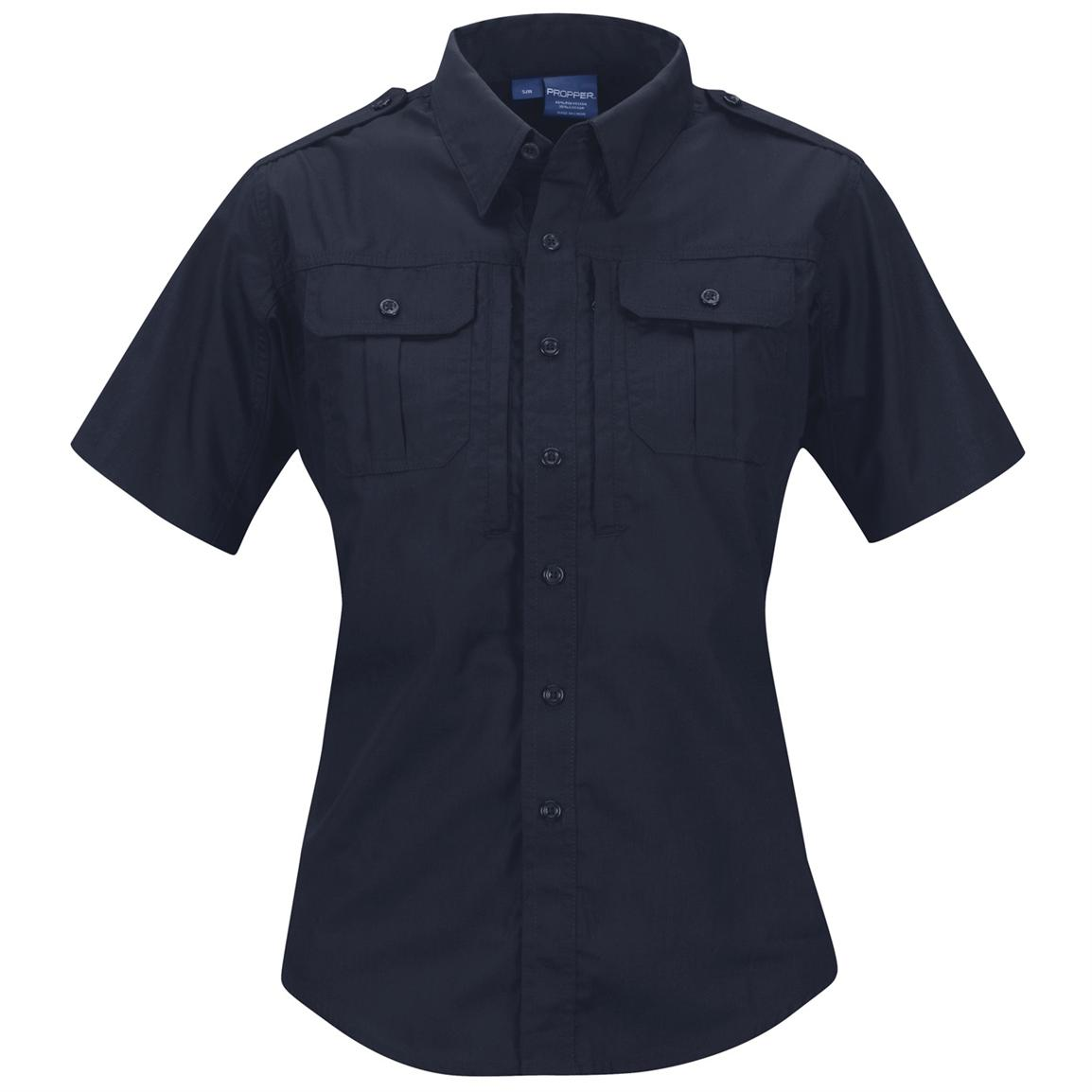 Women's Propper™ Short-sleeved Tactical Shirt, LAPD Navy