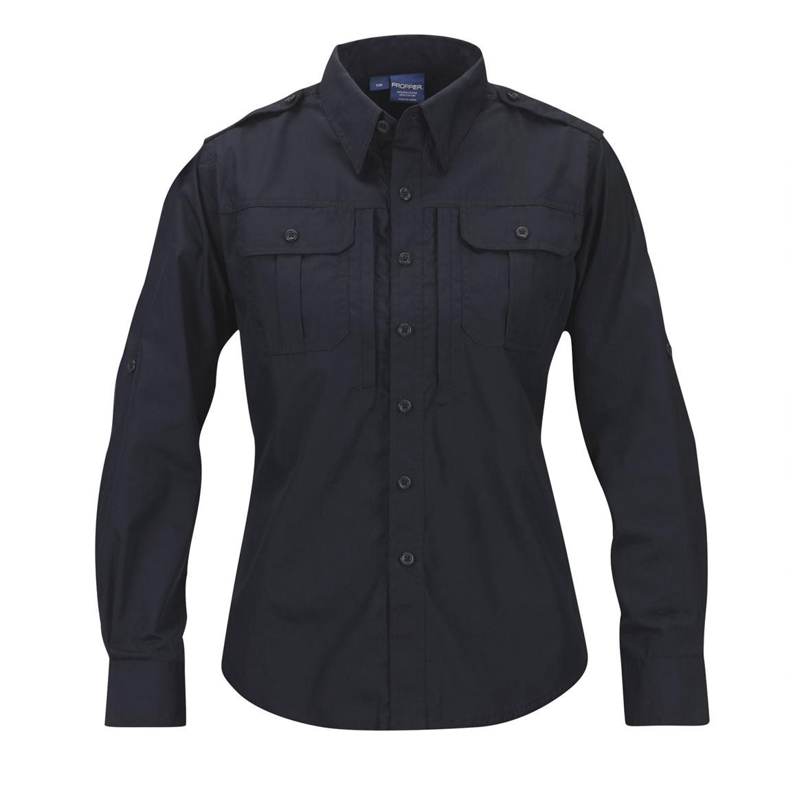 Women's Propper™ Long-sleeved Tactical Shirt, LAPD Navy