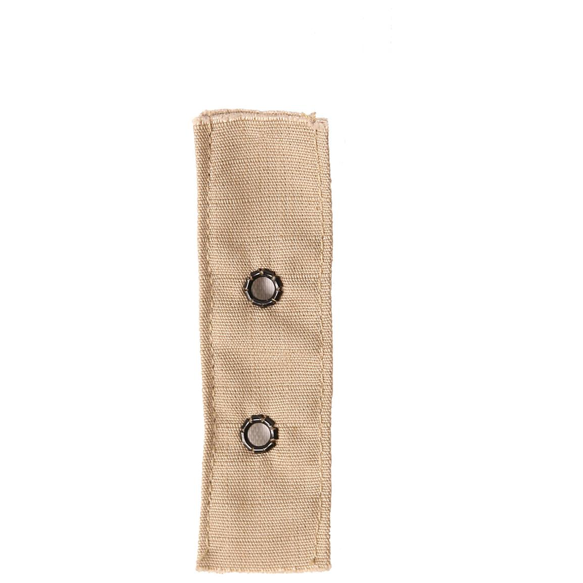 Shoulder epaulets with buttons