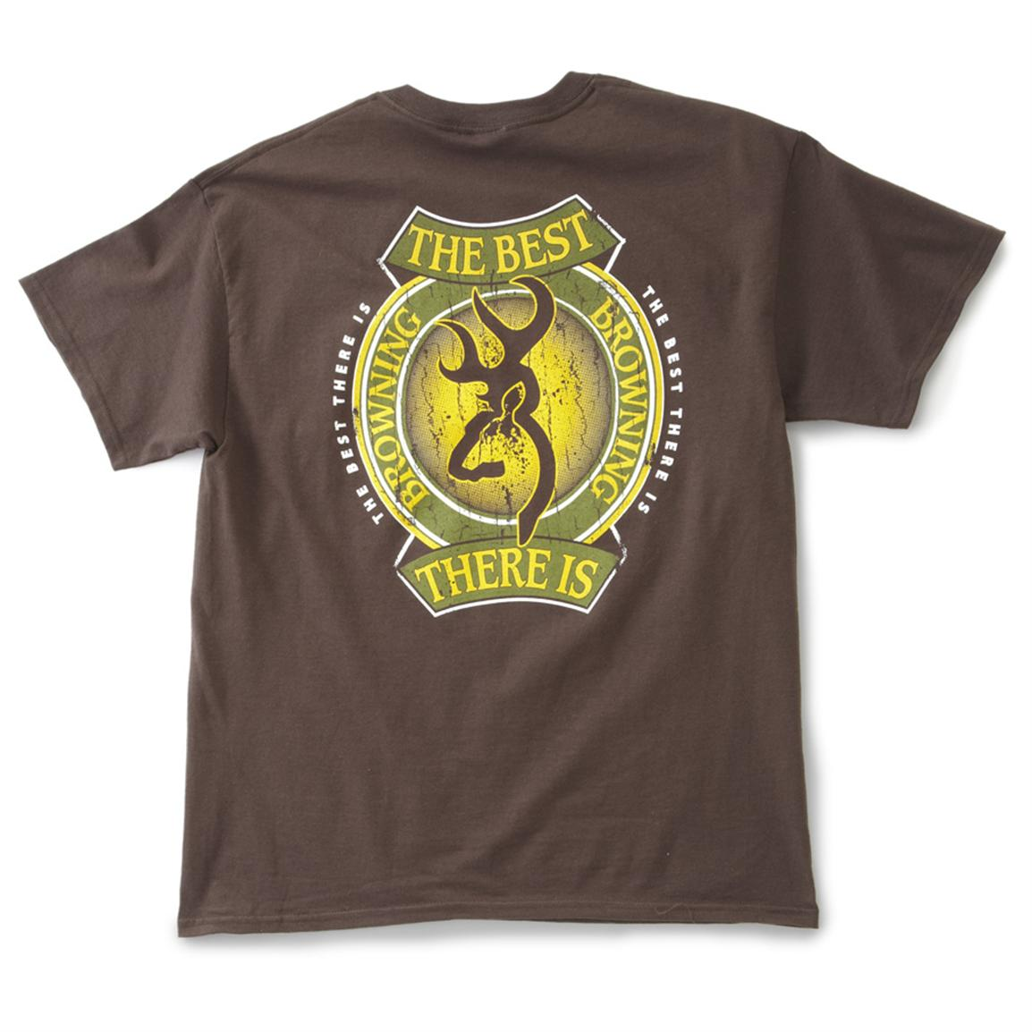 fe4d10438 Men's Browning® Green and Gold Crest Short-sleeved T-shirt - Back view