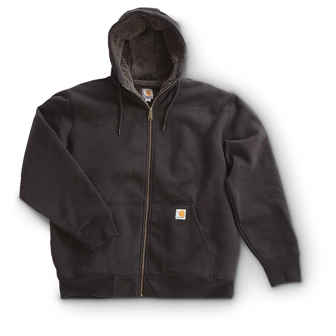 Carhartt® Paxton Zip-front Hooded Sweatshirt, Black