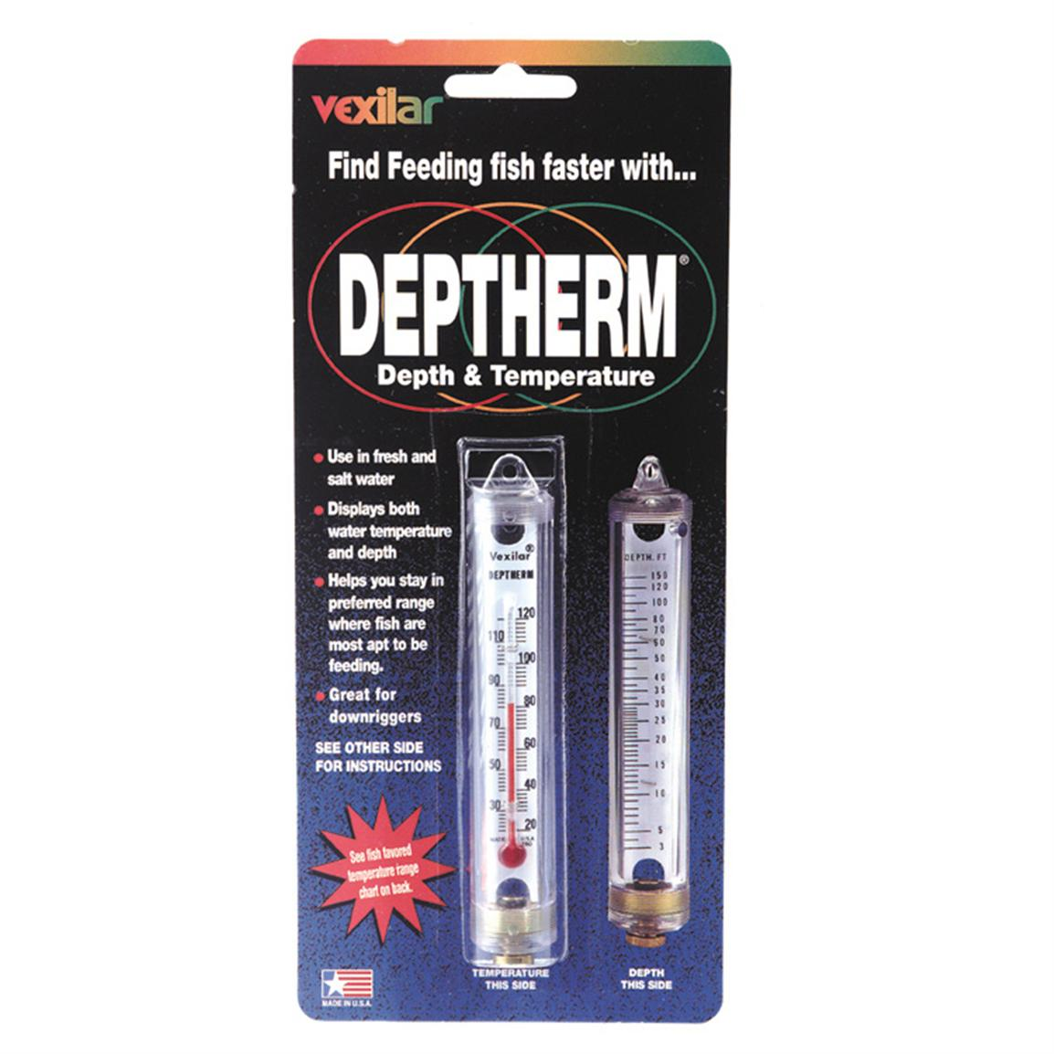 Vexilar deptherm model 104 59518 ice fishing for Ice fishing electronics
