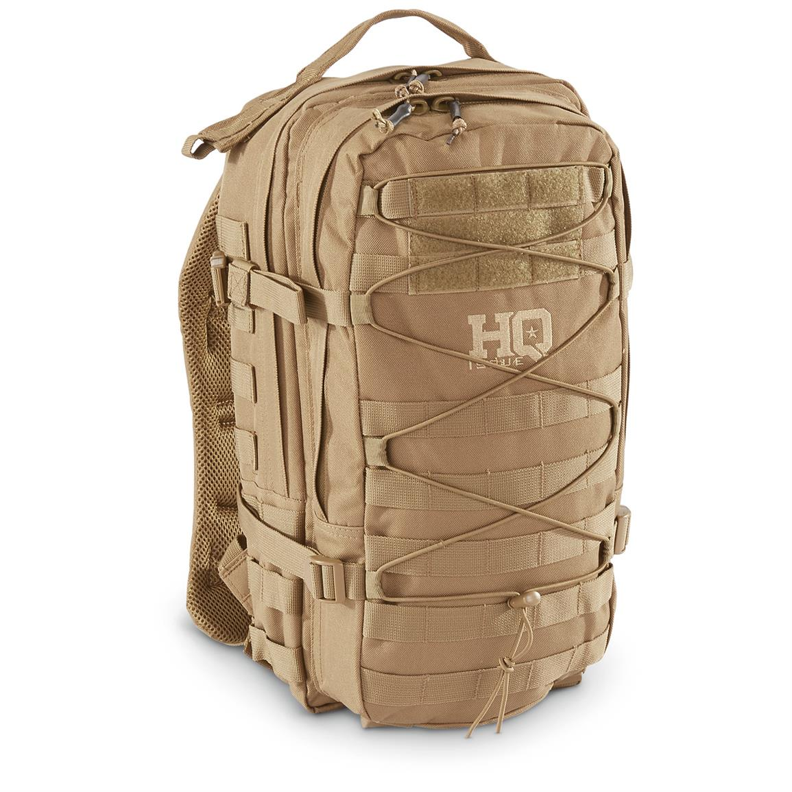 HQ ISSUE Bungee-style Day Pack, Coyote Tan
