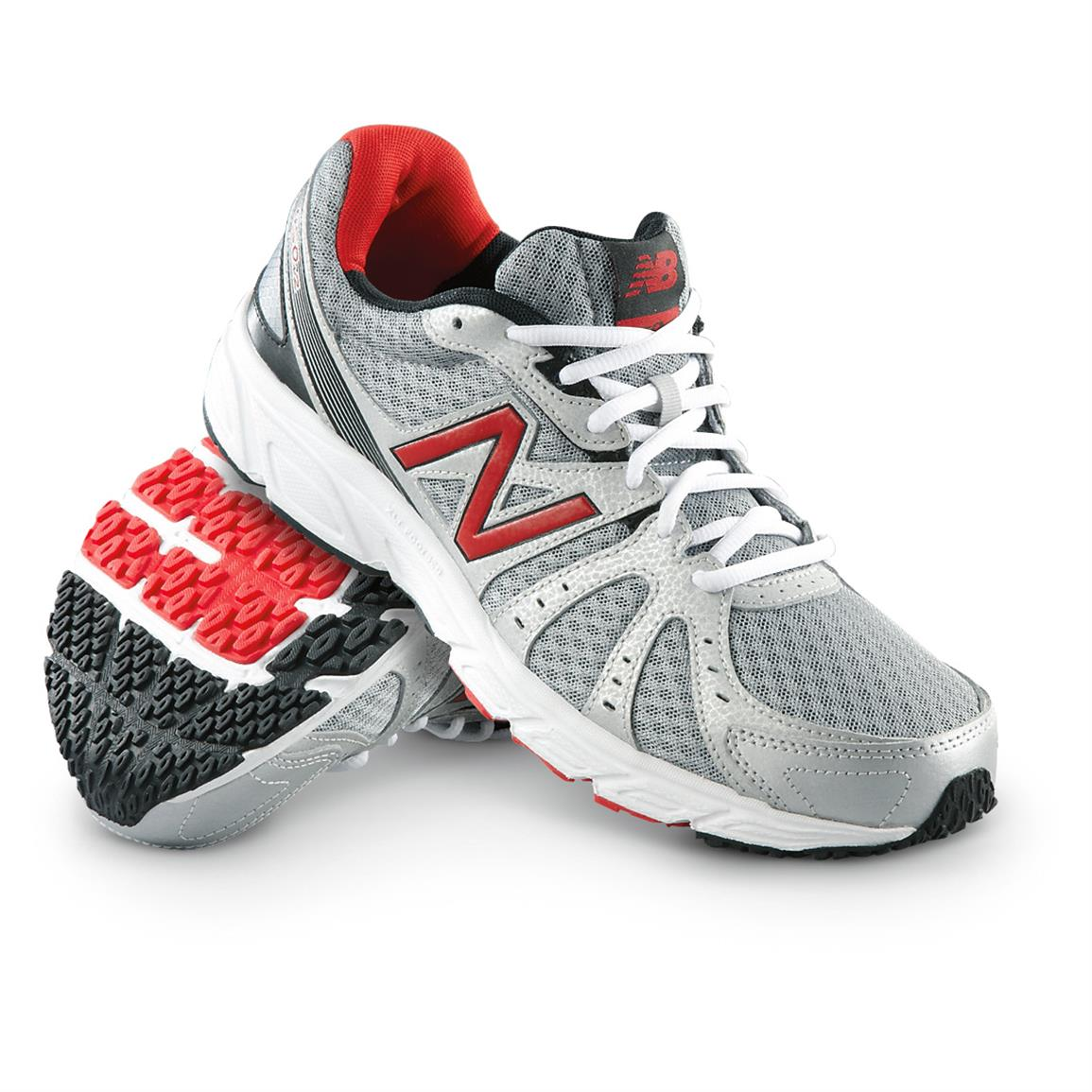 Men's New Balance® 450 Running Shoes, Silver / Red