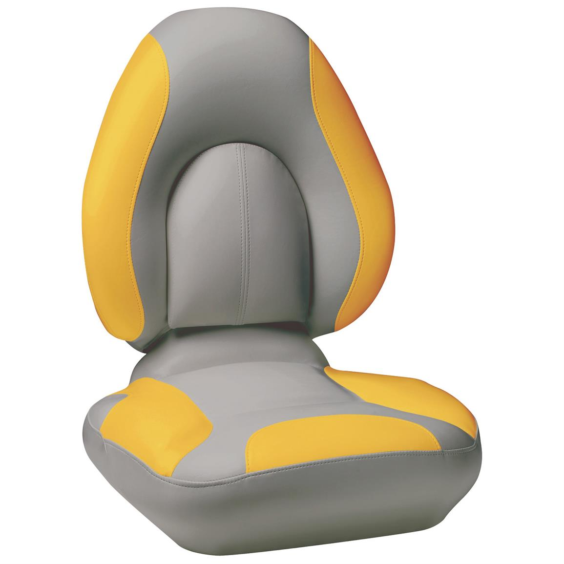 Attwood® Centric SAS™ Boat Seat, Gray Base Color / Yellow