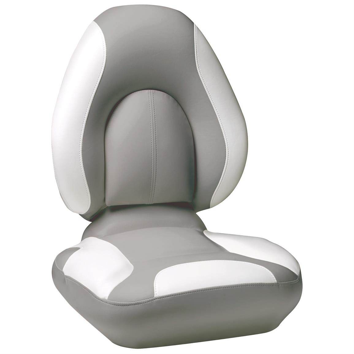 Attwood® Centric SAS™ Boat Seat, Gray Base Color / Bright White