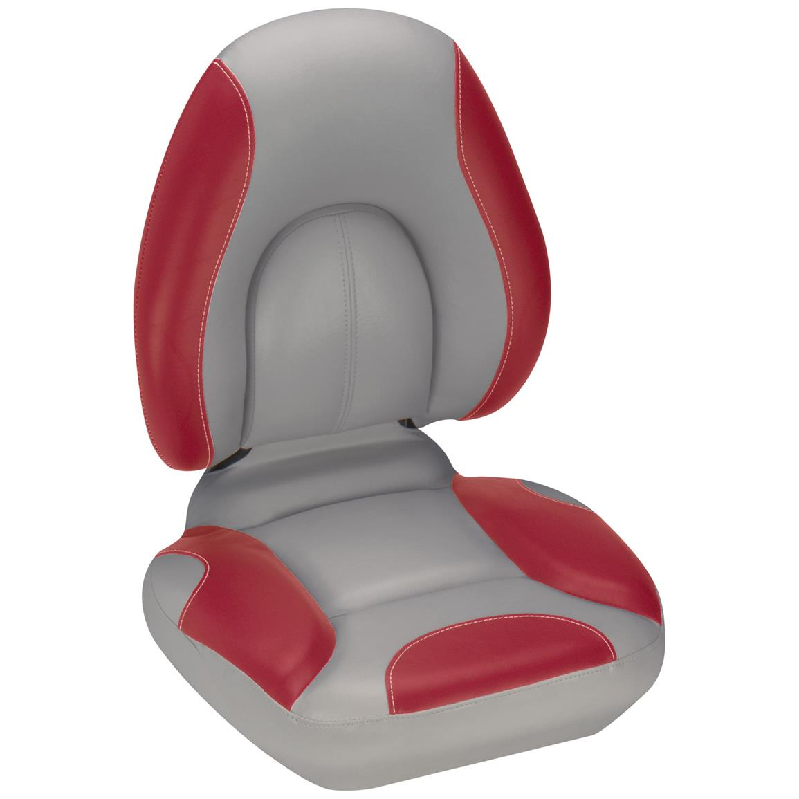 Attwood® Centric SAS™ Boat Seat, Gray Base Color / Red
