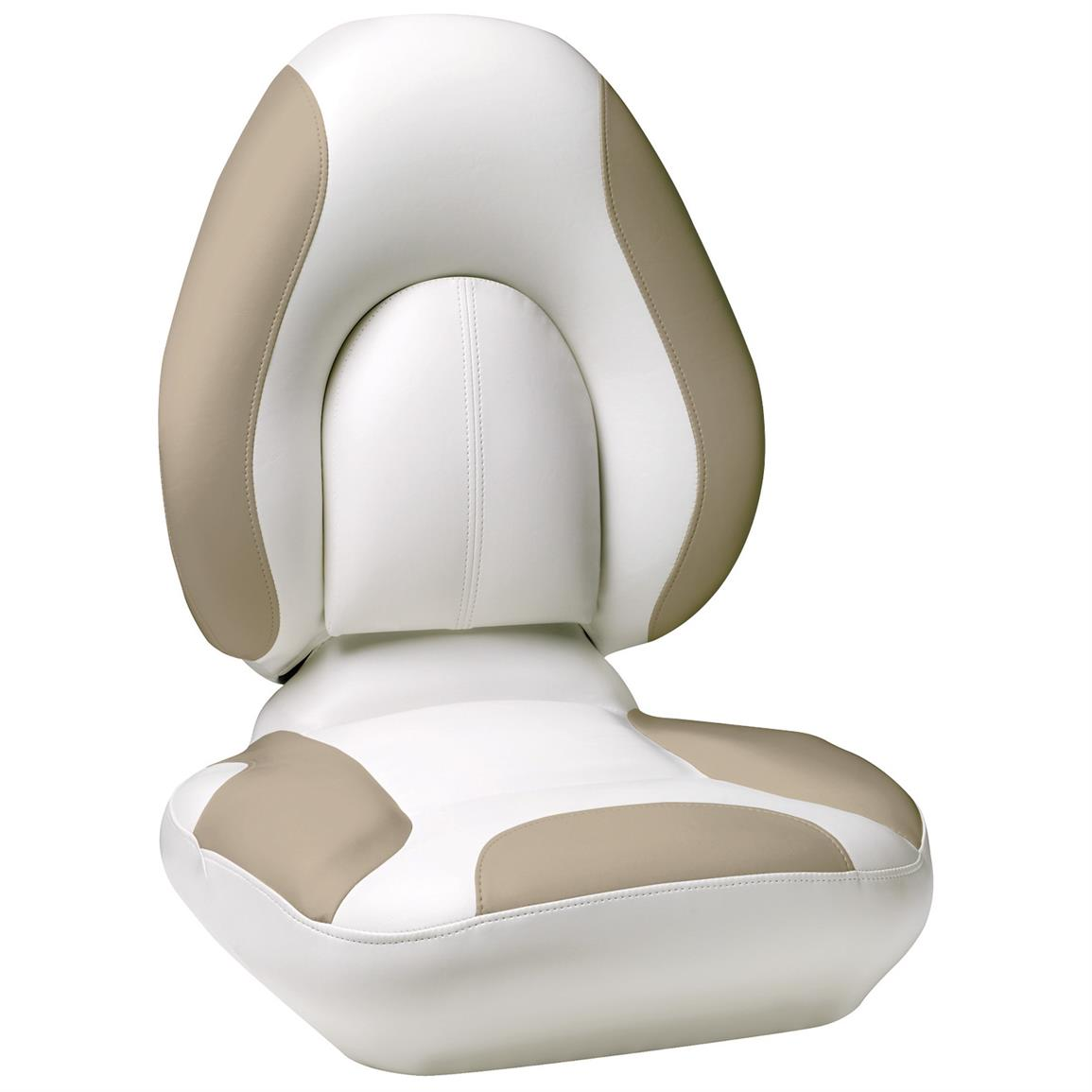 Attwood® Centric SAS™ Boat Seat, Bright White Base Color / Beige