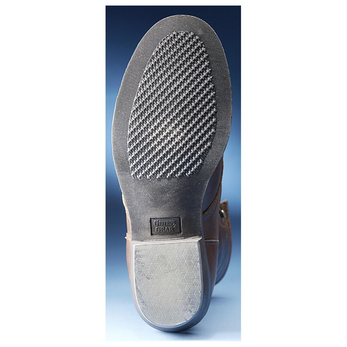 Long-wearing, sure-traction rubber outsole