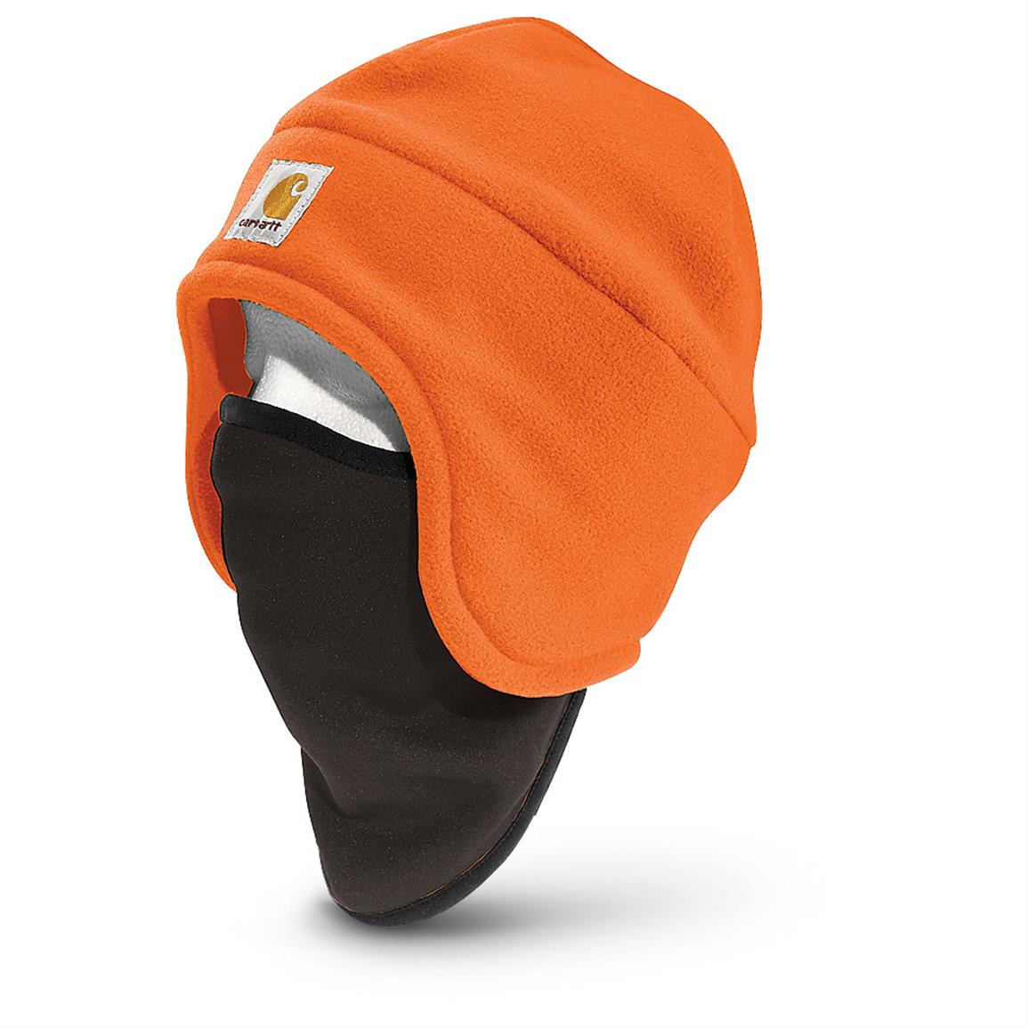 Carhartt High-Visibility Color-Enhanced Fleece 2-In-1 Hat, Bright Orange