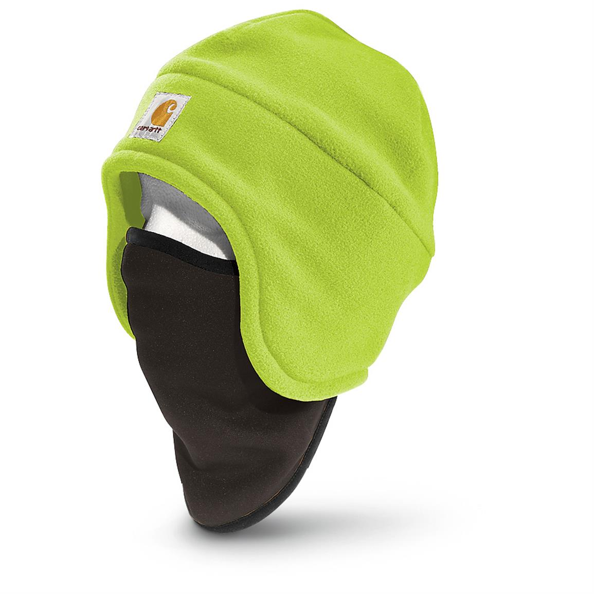 Carhartt High-Visibility Color-Enhanced Fleece 2-In-1 Hat, Bright Lime
