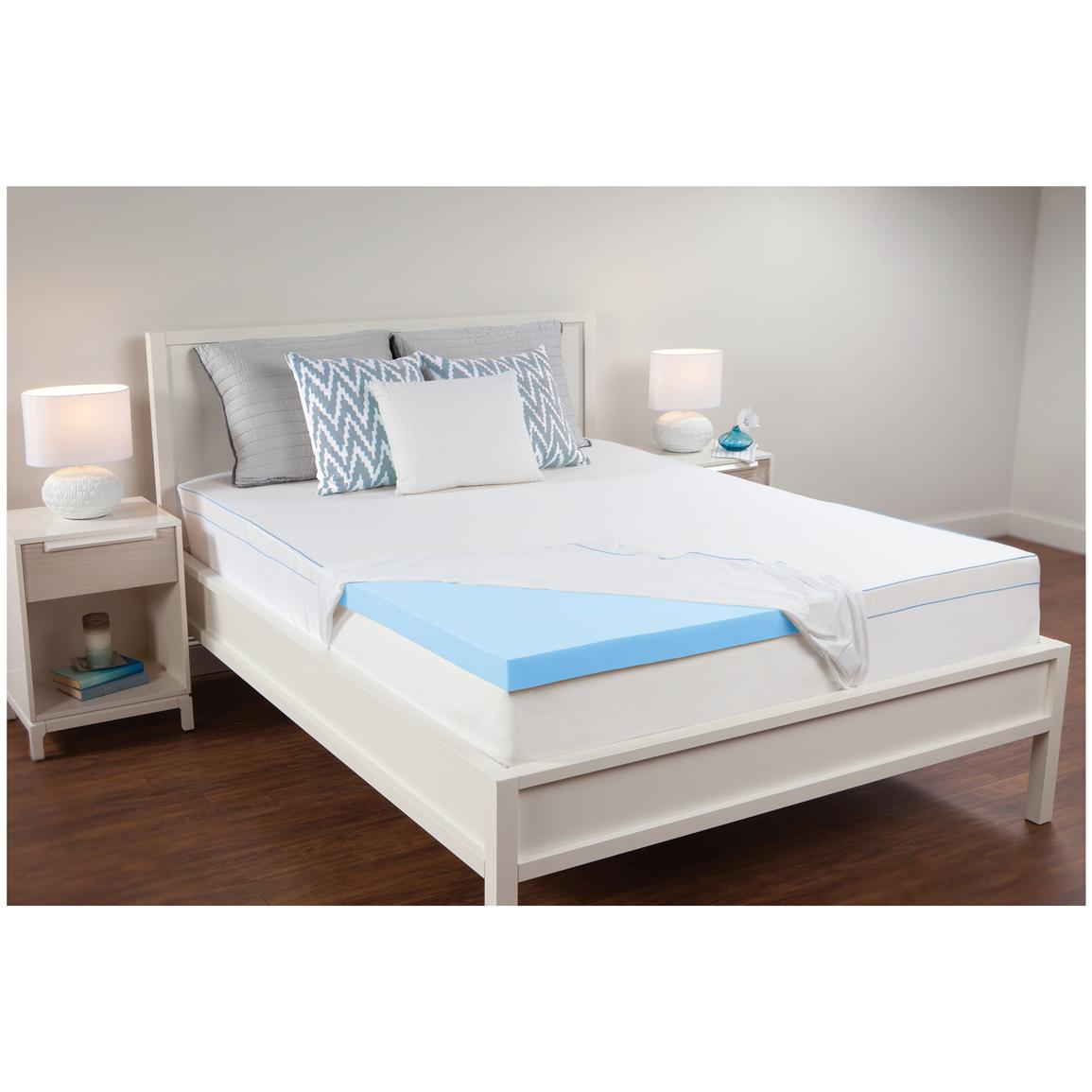 Sealy 2 5 Memory Foam Mattress Topper 608323 Mattress Toppers At Sportsman 39 S Guide