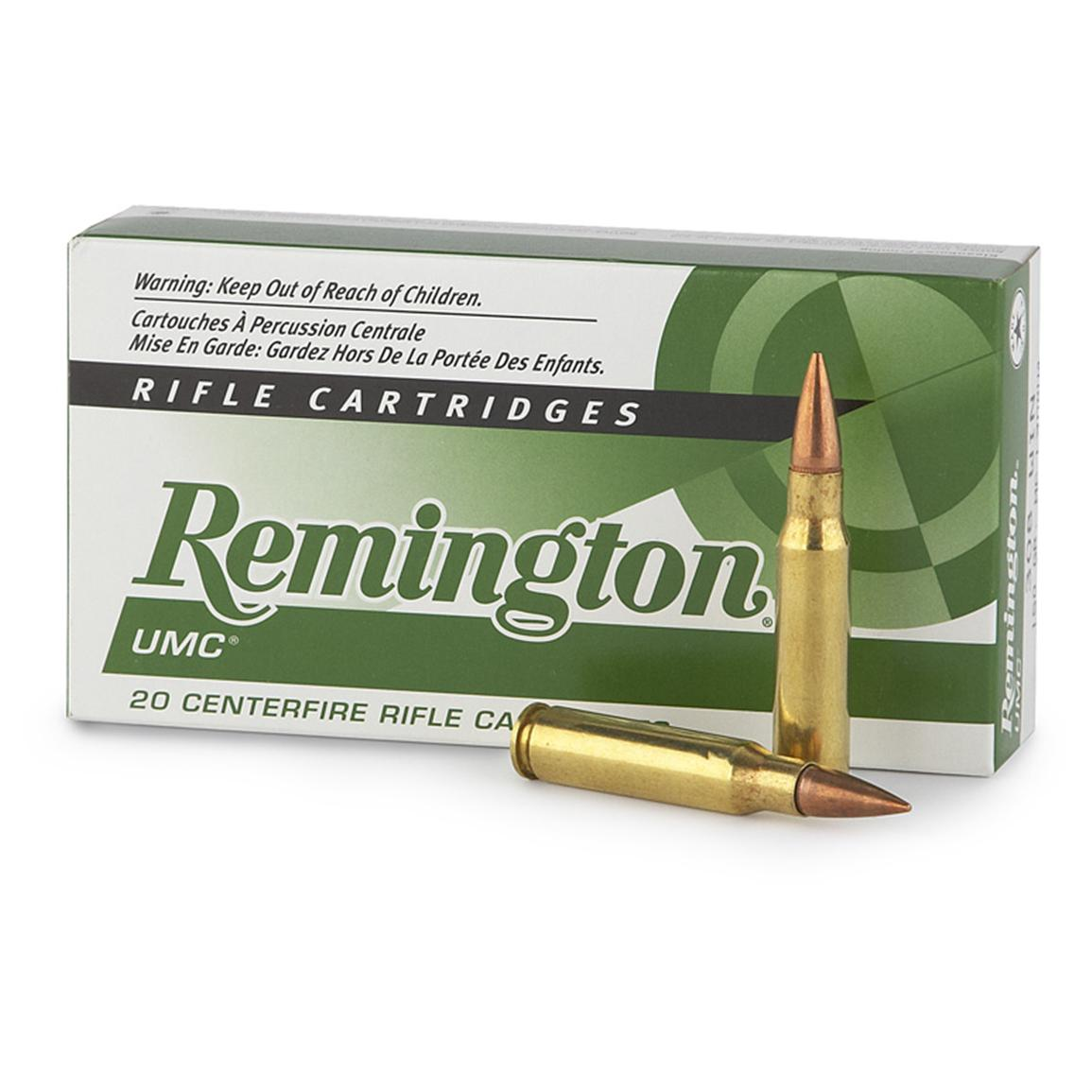 Remington UMC, .308 Win, MC, 150 Grain, 20 Rounds