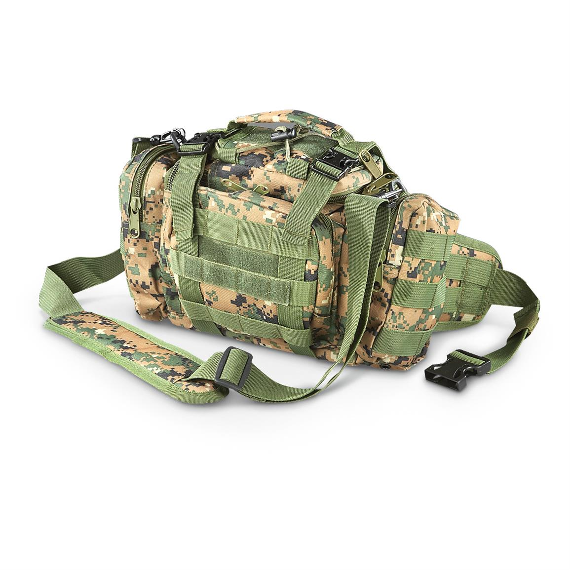 Tactical Shooter's Shoulder Bag, Digital Woodland • 585-cu. in. capacity